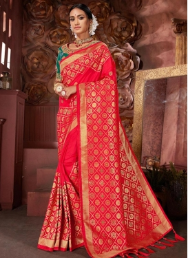 Embroidered Work Banarasi Silk Classic Saree