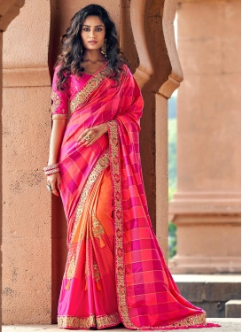 Embroidered Work Banarasi Silk Trendy Classic Saree