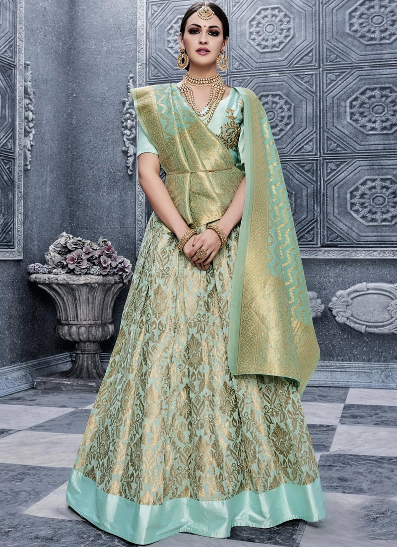 Embroidered Work Banarasi Silk Trendy Lehenga Choli