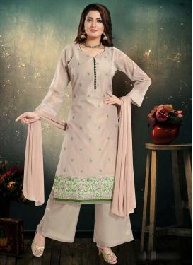 Embroidered Work Chanderi Silk Readymade Designer Suit