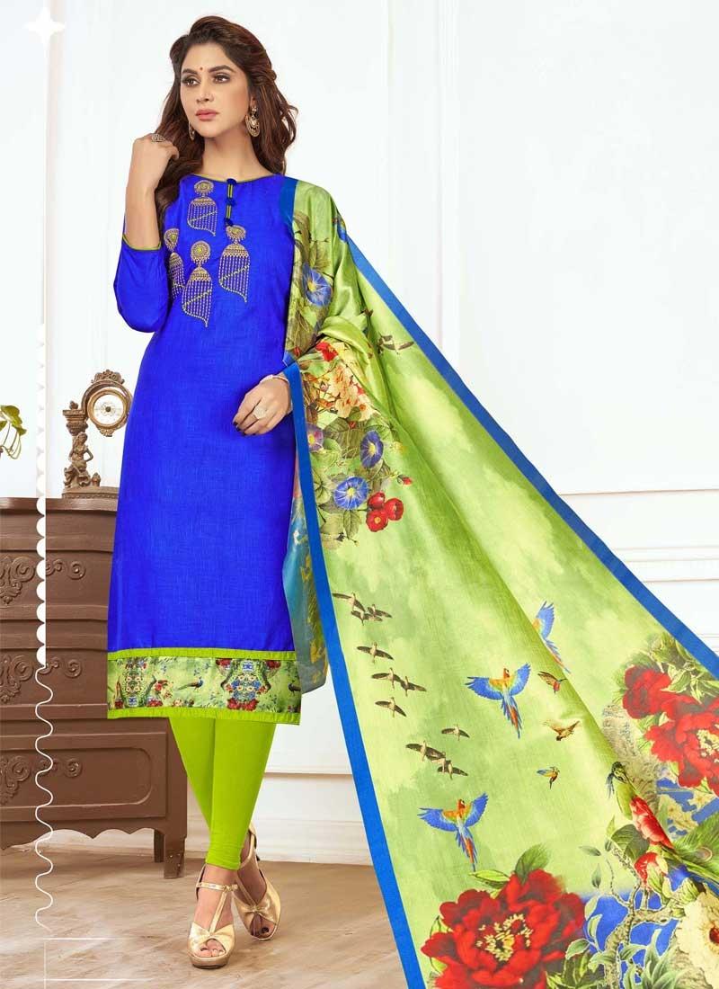 Embroidered Work Churidar Designer Suit