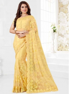 Embroidered Work Contemporary Style Saree