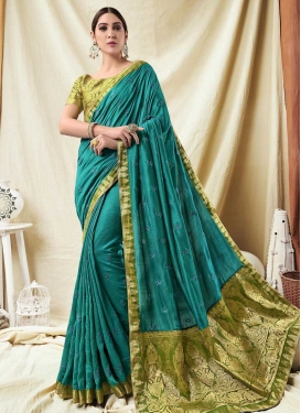 Embroidered Work Contemporary Style Saree For Ceremonial