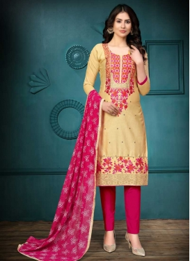 Embroidered Work Cotton Pant Style Classic Salwar Suit