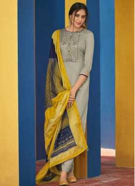 Embroidered Work Cotton Pant Style Pakistani Salwar Suit