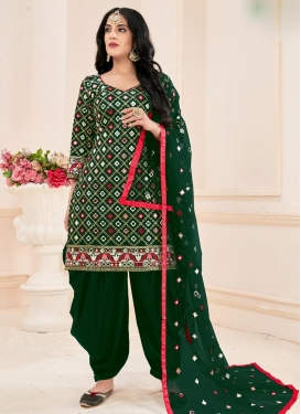 Embroidered Work Cotton Readymade Salwar Kameez