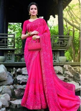 Embroidered Work Designer Contemporary Saree For Ceremonial