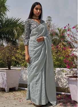Embroidered Work Designer Contemporary Style Saree