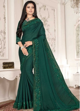 Embroidered Work Designer Contemporary Style Saree For Ceremonial