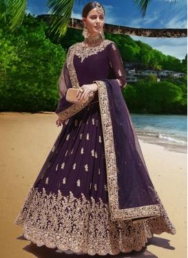 Embroidered Work Designer Floor Length Salwar Suit