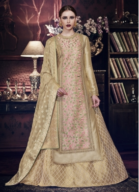 Embroidered Work Designer Kameez Style Lehenga Choli