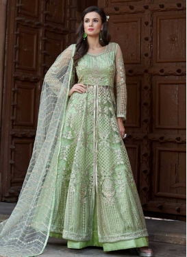 Embroidered Work Designer Kameez Style Lehenga For Festival