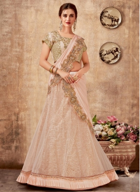 Embroidered Work Designer Lehenga Style Saree