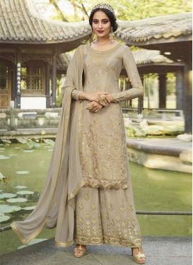 Embroidered Work Designer Palazzo Salwar Kameez For Party