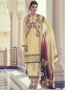 Embroidered Work Designer Pant Style Suit