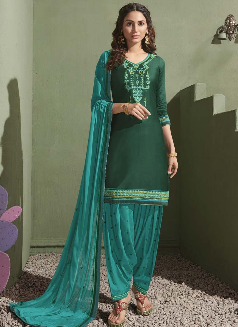 Embroidered Work Designer Patiala Suit