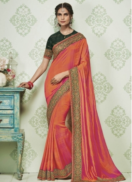 Embroidered Work Designer Traditional Saree For Ceremonial
