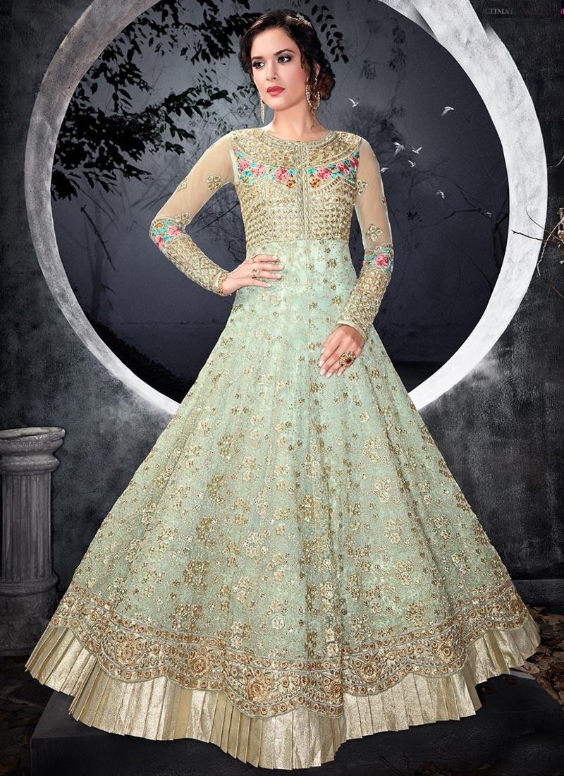 Embroidered Work Desinger Anarkali Salwar Kameez