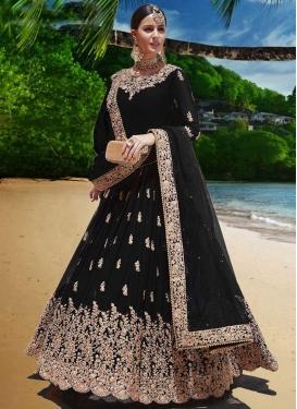 Embroidered Work Faux Georgette Long Length Anarkali Salwar Suit