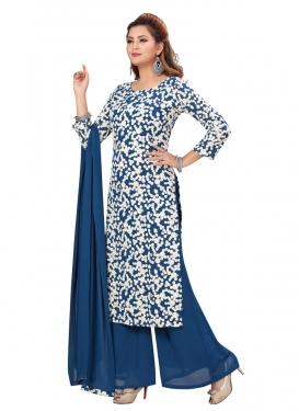 Embroidered Work Faux Georgette Readymade Designer Salwar Suit