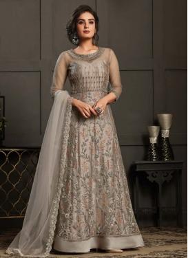 Embroidered Work Floor Length Anarkali Salwar Suit
