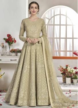 Embroidered Work Floor Length Anarkali Salwar Suit For Ceremonial