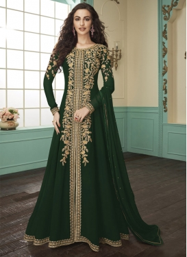 Embroidered Work Floor Length Designer Salwar Suit