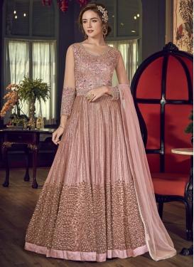 Embroidered Work Floor Length Designer Salwar Suit For Festival