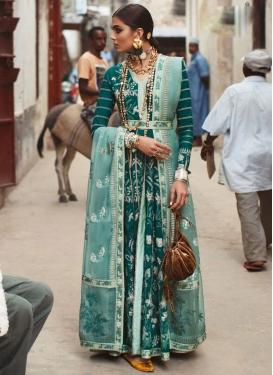 Embroidered Work Floor Length Designer Suit For Ceremonial