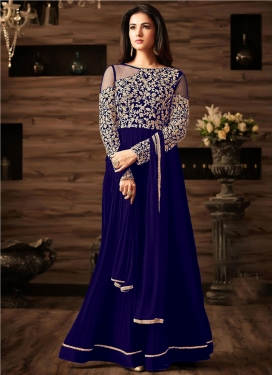 Embroidered Work Floor Length Salwar Kameez