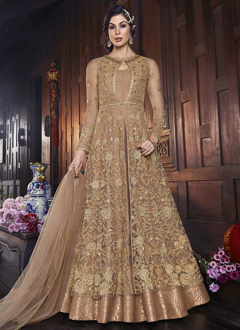 Embroidered Work Jacket Style Salwar Kameez