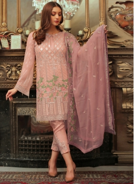 Embroidered Work Jacket Style Salwar Suit