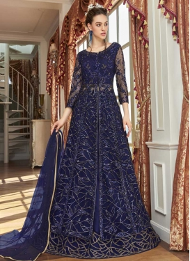Embroidered Work Kameez Style Lehenga For Ceremonial