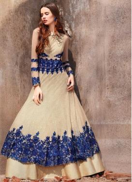 Embroidered Work Layered Designer Anarkali Suit