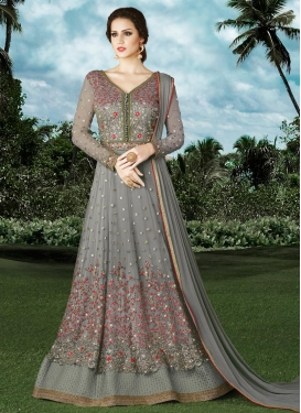 Embroidered Work Layered Designer Salwar Suit