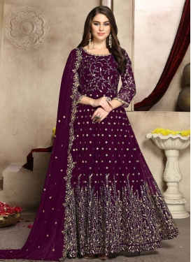 Embroidered Work Long Length Anarkali Salwar Suit