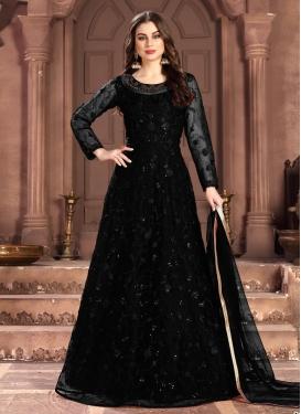 Embroidered Work Long Length Anarkali Suit