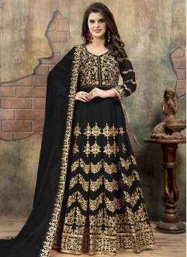 Embroidered Work Long Length Designer Anarkali Suit