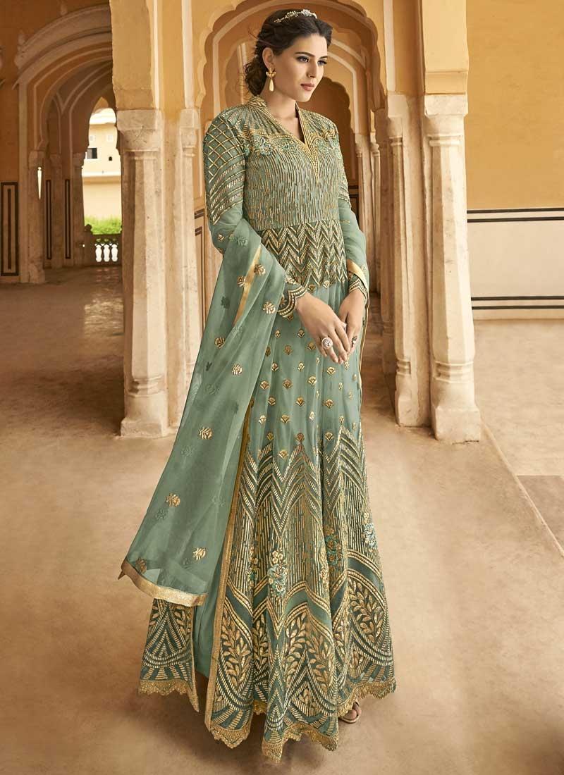 Embroidered Work Long Length Designer Anarkali Suit