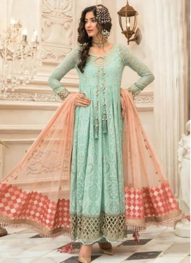 Embroidered Work Long Length Designer Suit For Ceremonial