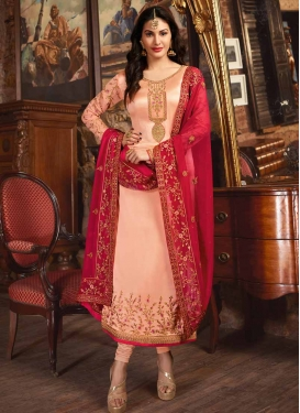 Embroidered Work Long Length Pakistani Salwar Suit
