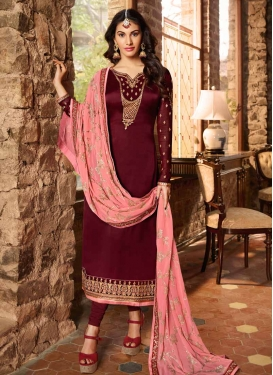 Embroidered Work Long Length Trendy Pakistani Suit