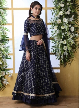 Embroidered Work Net A Line Lehenga Choli