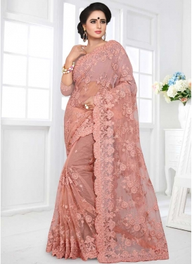 Embroidered Work Net Contemporary Saree