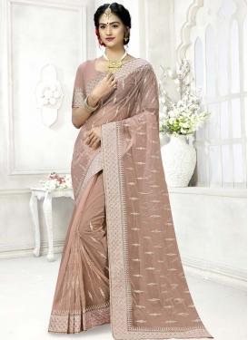 Embroidered Work Net Designer Traditional Saree