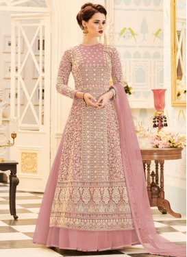 Embroidered Work Net Jacket Style Salwar Suit
