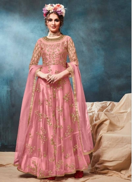 Embroidered Work Net Long Length Anarkali Salwar Suit
