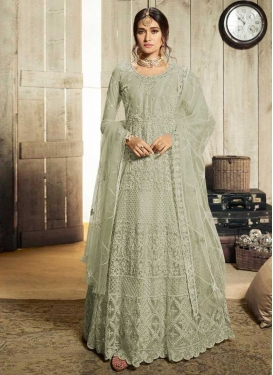 Embroidered Work Net Long Length Designer Anarkali Suit