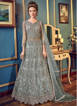 Embroidered Work Net Long Length Designer Suit