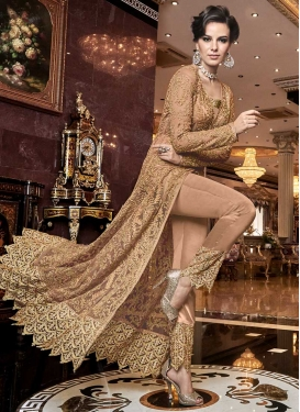 Embroidered Work Net Pant Style Classic Salwar Suit